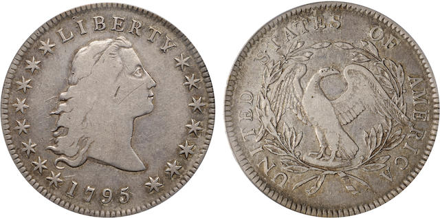 1795 Flowing Hair, 3 Leaves $1 VF20 PCGS