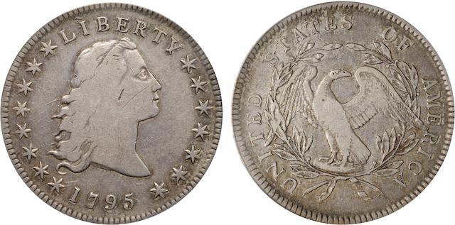 1795 Flowing Hair, 3 Leaves $1 VF20 PCGS