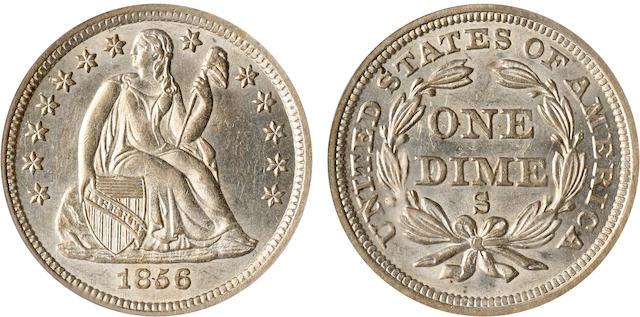 1856-S 10C MS63 PCGS