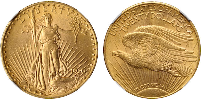 1910-D $20 MS62 NGC