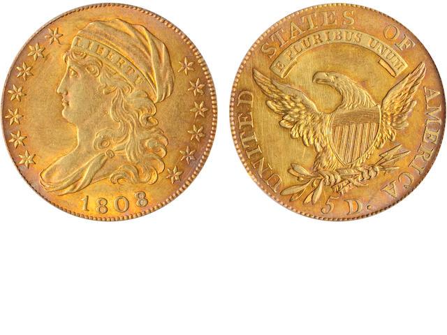 1808/7 $5 Close Date AU53 PCGS