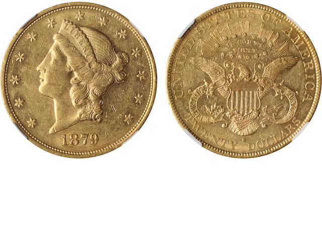 1879-S $20 AU58 NGC