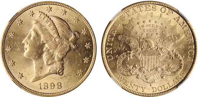 1898-S $20 AU58 NGC