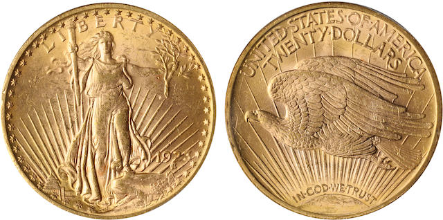 1923 $20 MS62 PCGS