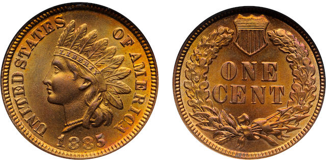 1885 1C MS67 Red and Brown NGC Star