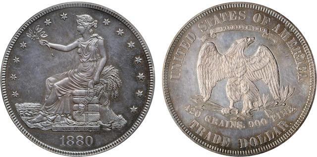 1880 TR$1 Proof 64 PCGS