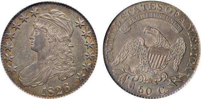 1826 50C AU55 PCGS