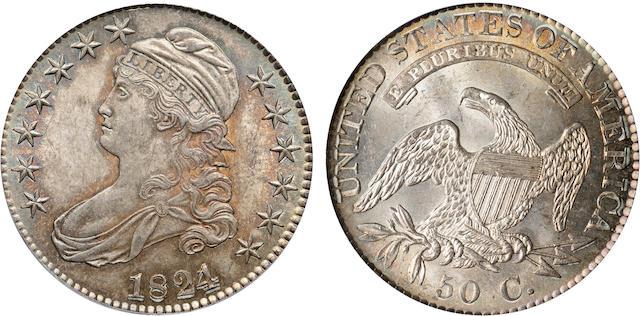 1824/1 50C MS63 CAC PCGS