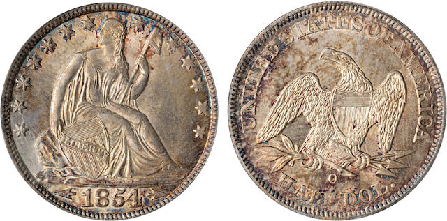 1854-O Arrows 50C MS64 PCGS