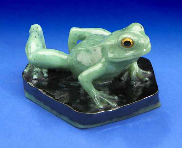 Zoisite Carving of a Frog