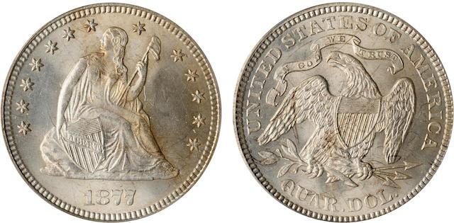 1877 25C MS65 PCGS