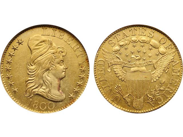 1800 $5 MS62 NGC