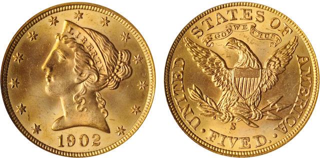 1902-S $5 MS65 PCGS
