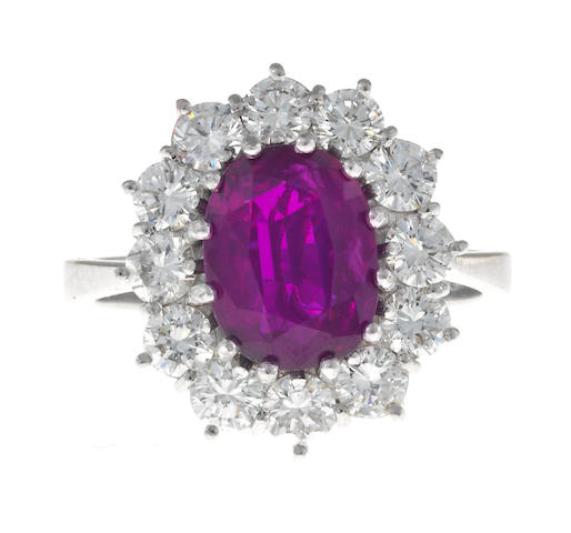 A ruby and diamond ring, London,