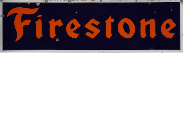 A Firestone Tires sign, c.20's,