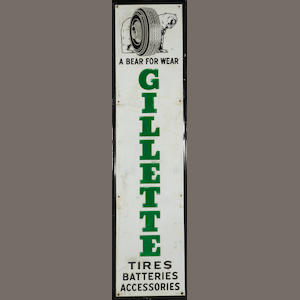 A Gillette Tires sign, 1964,