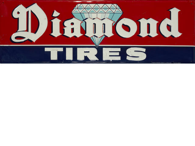 A Diamond tires sign,