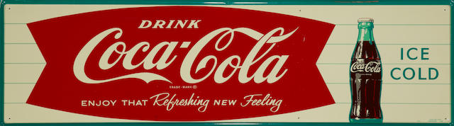 A Coca-Cola, Enjoy That Refreshing New Feeling sign, 1962,