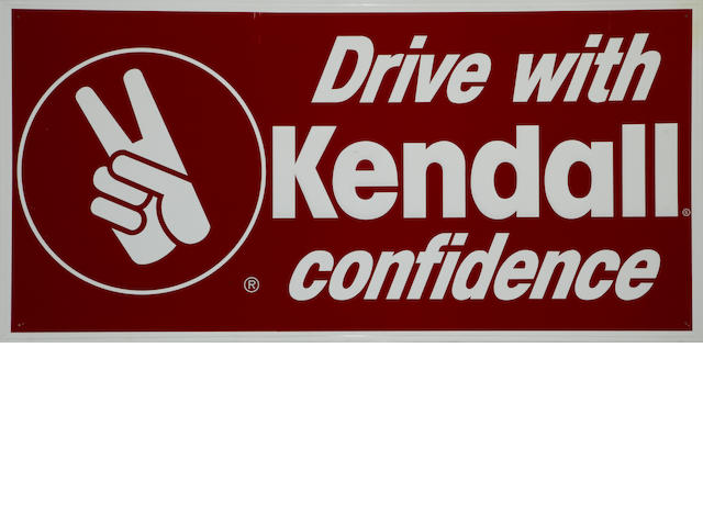 A large Kendall motor oils sign c.70s,