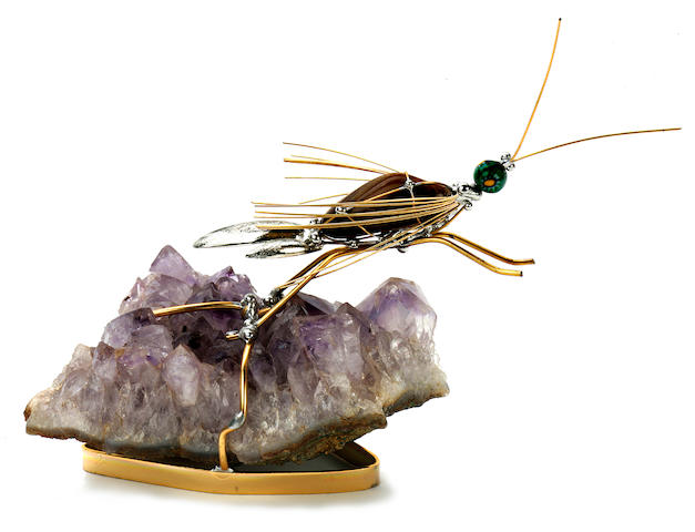 Dragonfly on Amethyst base