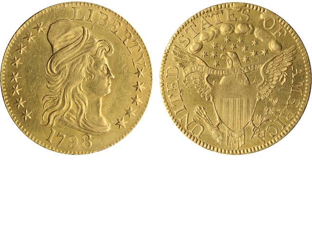 1798 Large 8, 13 Star Reverse $5