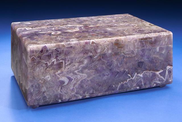 Amethyst Intarsia Box