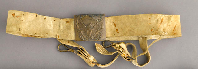 An American officer's sword belt