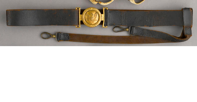 An American militia officer's sword belt