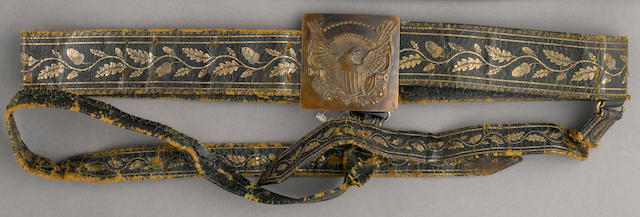 An American officer's dress sword belt