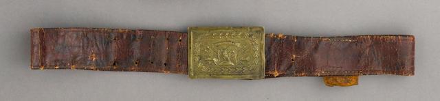 A New York militia officer's sword belt
