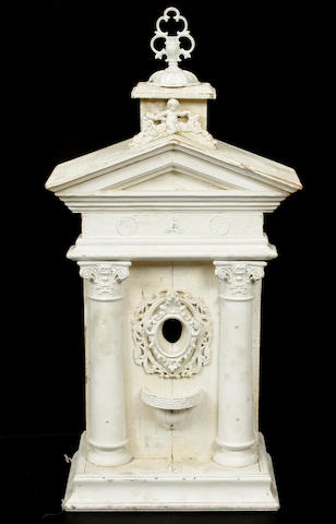 A Neoclassical style paint decorated wood architectural element