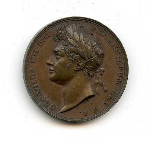 England, 1821 Coronation Medal of George IV by Benedetto Pistrucci