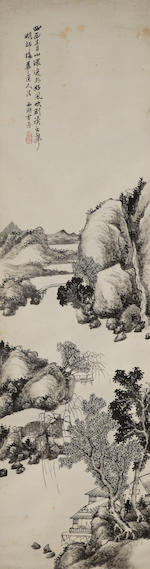 Various artists, 19th century Ink landscapes