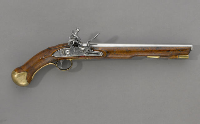 A British long sea service flintlock pistol