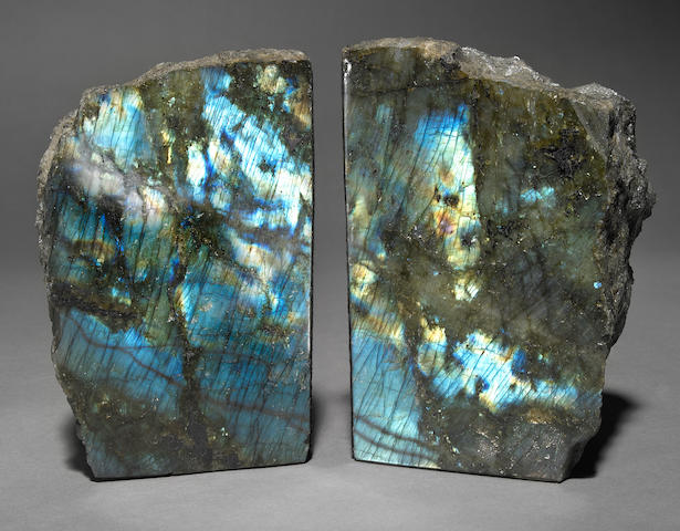 Pair of Labradorite Bookends