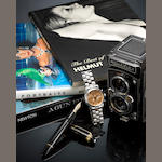 MONTBLANC: Meisterstück 149 Helmut Newton 75th Anniversary Limited Edition Fountain Pen & Chronograph Rose Gold Automatic White Gold Watch