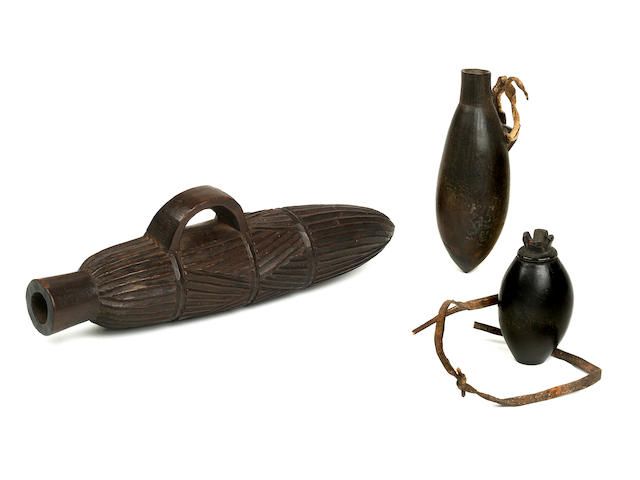 Three Shona, Tsonga, or Northern Nguni Snuff Containers, South Africa