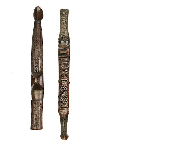 Two Shona Knives in Sheaths, Zimbabwe/Mozambique