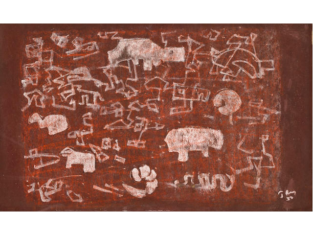 Mark Tobey (1890-1976) Early Playground III, 1953 13 x 21 3/8in. (33 x 54.3cm)