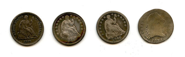 Collection of Half Dimes, 1794-1873-S