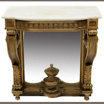 A Louis XV style console and mirror