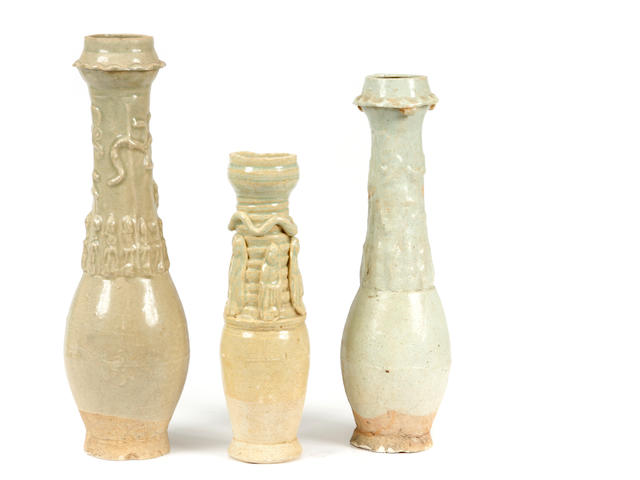 A group of six Chinese funerary urns