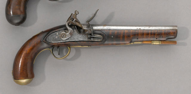 An American flintlock pistol by R.S. Clark, dated 1833