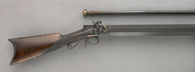 A percussion bench rifle by William H. Soper