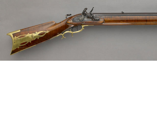An American percussion bench rifle