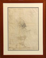 Five framed maps of San Francisco