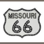 A Missouri Route 66 sign,