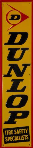 A  Dunlop tires sign, c.60s,