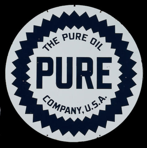 A Pure motor oil sign,