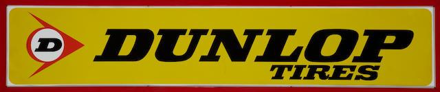 A Dunlop tires sign, c.70s